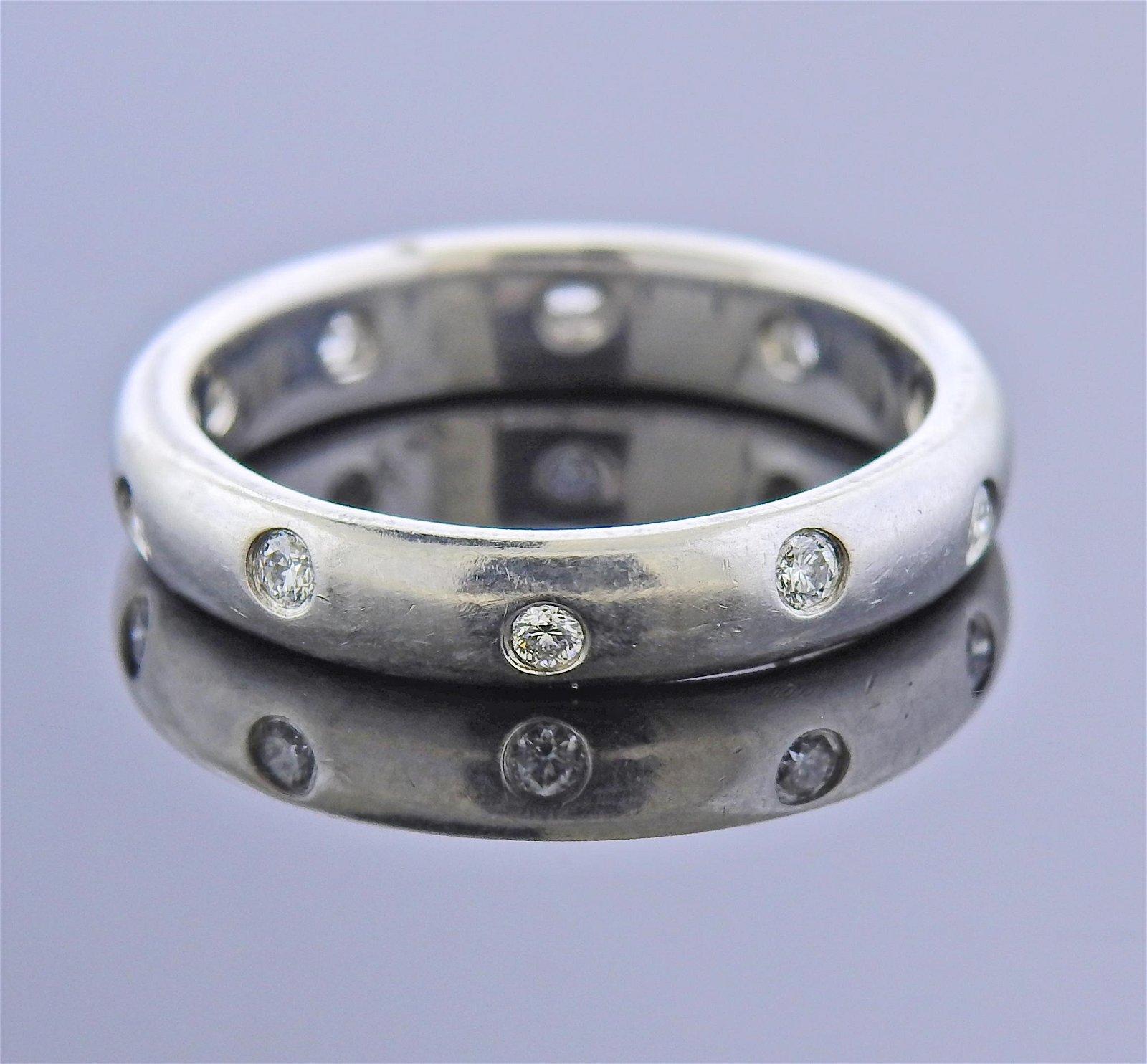 Tiffany & Co Etoile Platinum Diamond Band Ring