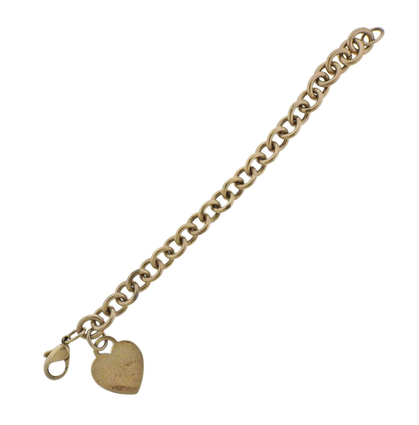 Tiffany & Co Sterling Silver Heart Tag Bracelet
