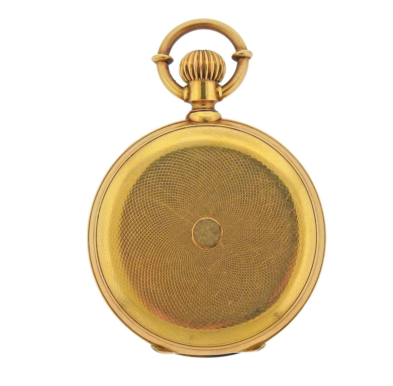 Antique Jules Jurgensen Copenhagen 18K Gold Pocket