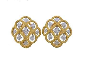 Buccellati 18k Gold Openwork Earrings