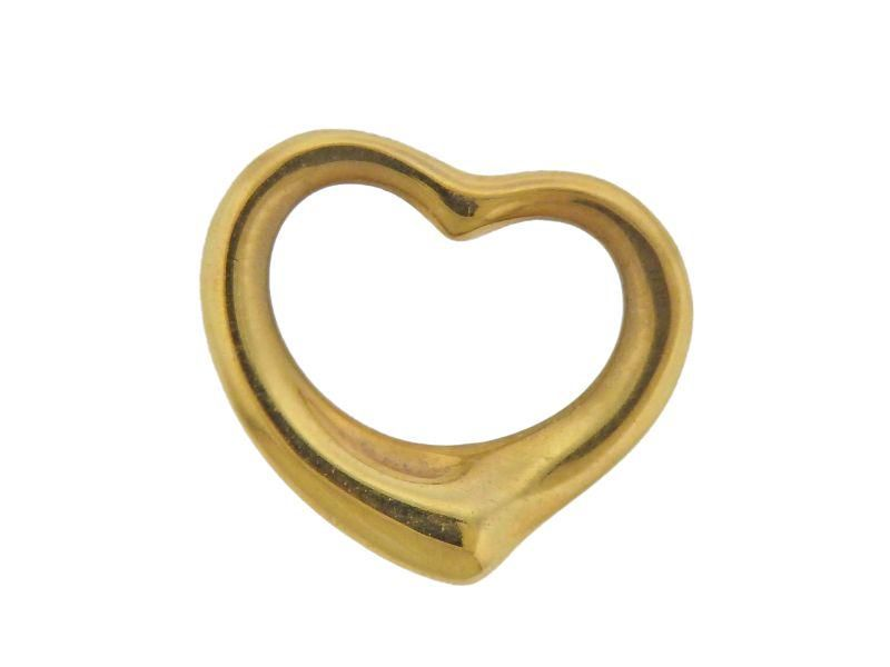Tiffany & Co 18k Gold Elsa Peretti Heart Pendant