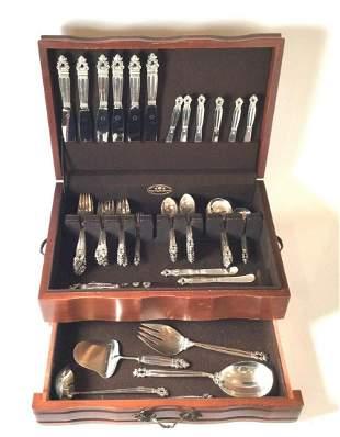 Georg Jensen Acorn Flatware 75 pieces in Case
