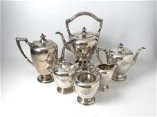 6pc Sterling Silver Tea Service