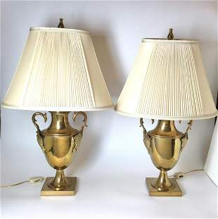Pair Chapman Brass Lamps