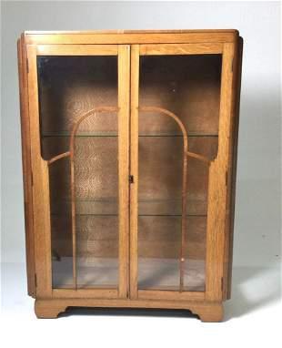 Art Deco 2 Door Display Cabinet