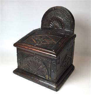 Early 18thc. European Hand Carved Box