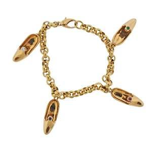 Mauboussin 18k Gold Diamond Sapphire Ruby Emerald Charm