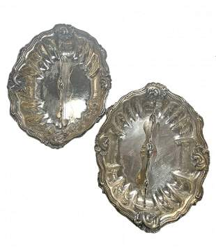 Pair Buccellati Borgia Sterling Silver Vegetable