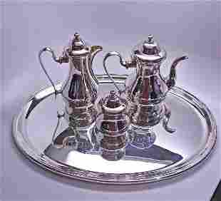 Buccellati Prestigio Mario Sterling Silver 4pc Tea and