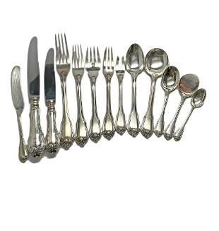 Buccellati Borgia Sterling Silver Flatware Set for 32