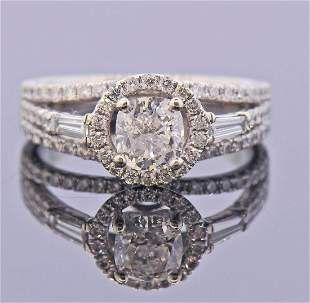 GIA 1.00ct H SI2 Diamond 18k Gold Engagement Ring