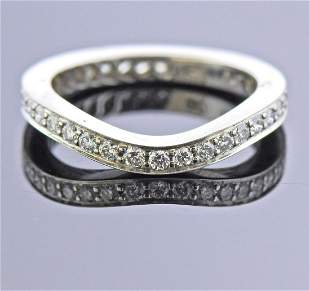 McTeigue Platinum Diamond Wave Eternity Wedding Band