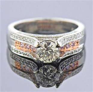 Martin Flyer Platinum 14k Gold Diamond Engagement Ring