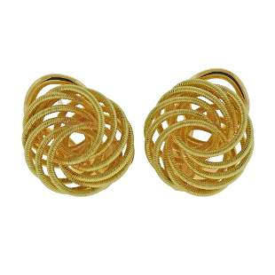 Buccellati 18k Gold Button Earrings