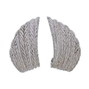 Buccellati 18k White Gold Earrings