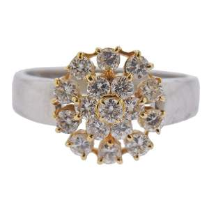 Platinum 18k Gold Diamond Ring