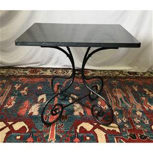 Iron Table with Granite Top Table
