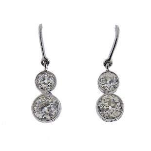 Sophia D Platinum Diamond Drop Earrings