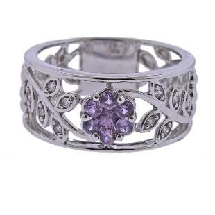 Kallati Gold Diamond Pink Sapphire Ring