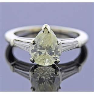 14k Gold 1.67ct Pear Diamond Engagement Ring