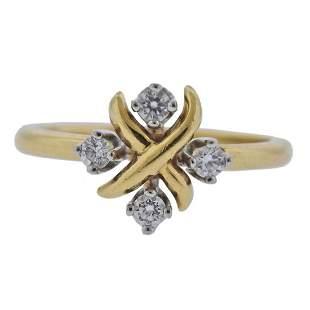 Tiffany & Co Schlumberger Lynn 18k Gold Platinum