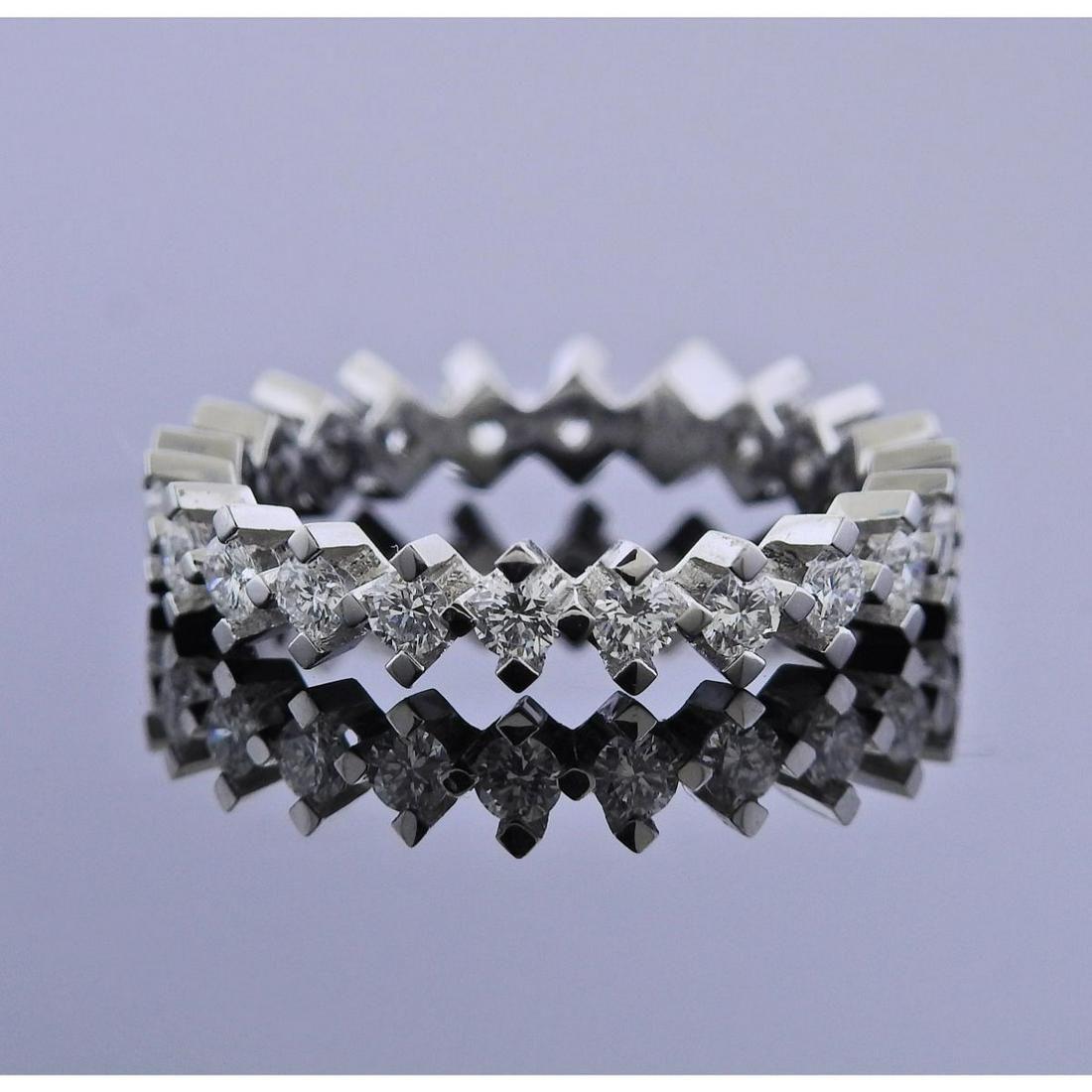 18k Gold Diamond Eternity Wedding Band Ring