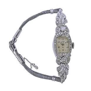 Lady Elgin Mid Century 14k Gold Diamond Watch