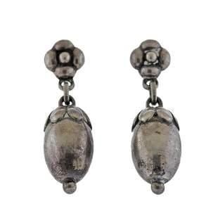 Georg Jensen Sterling Silver Drop Earrings No. 4