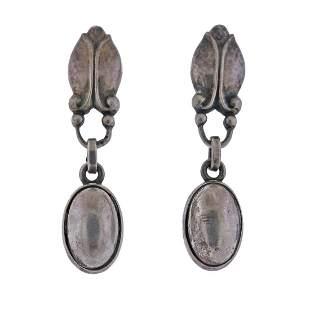 Georg Jensen Sterling Silver Drop Earrings No. 17