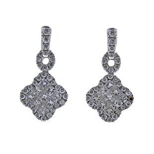 Gregg Ruth 18k Gold 1.03ctw Diamond Earrings