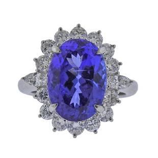 7.52ct Tanzanite Diamond Platinum Ring
