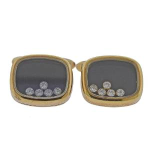 Chopard Happy Diamonds 18k Gold Cufflinks