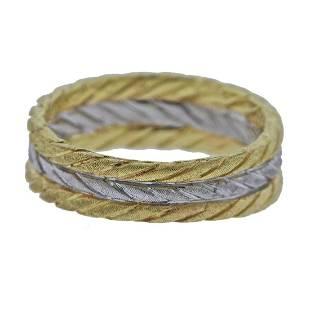 Buccellati 18k Two Tone Gold Band Ring