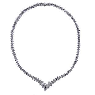 13 Carat Diamond 14k Gold Necklace