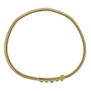 Cartier 18k Gold Diamond Flexible Necklace