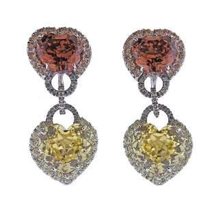 Andreoli 18k Gold Sapphire Gemstone Diamond Earrings