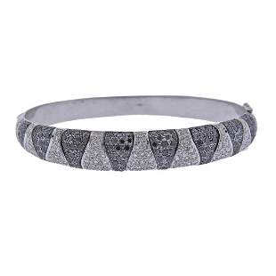 18k Gold 3.00ctw Diamond Bangle Bracelet