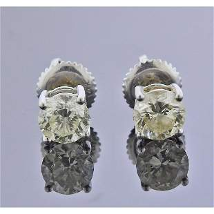 14k Gold 1.10ctw Diamond Stud Earrings