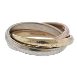 Tiffany & Co Vintage 14k Gold Rolling 3 Band Ring