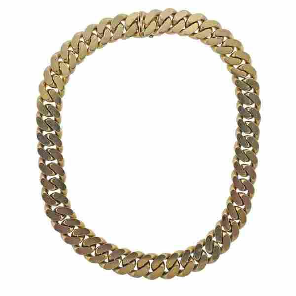 Bvlgari Bulgari 18k Gold Cuban Link Chain Necklace