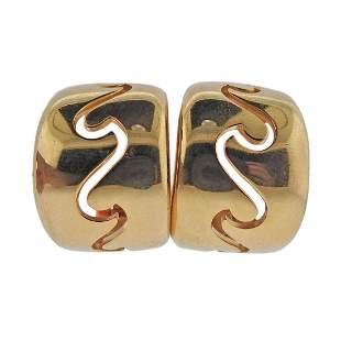 Van Cleef & Arpels 18k Gold Half Hoop Earrings