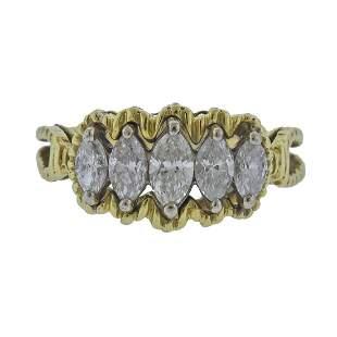 14k Gold Marquise Diamond Ring