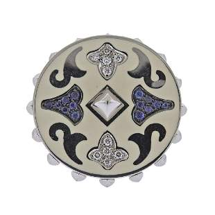 La Nouvelle Bague Gold Diamond Sapphire Enamel Ring