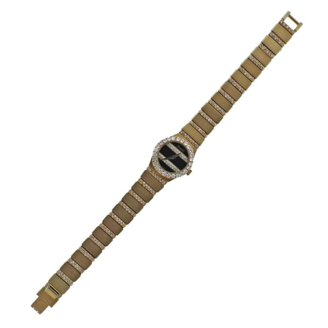 Piaget Polo 18k Gold Diamond Onyx Watch
