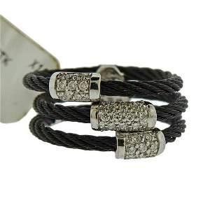 Charriol Noir Gold Steel Diamond Ring