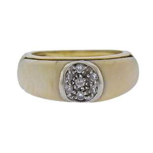 18k Gold Hardstone Diamond Ring