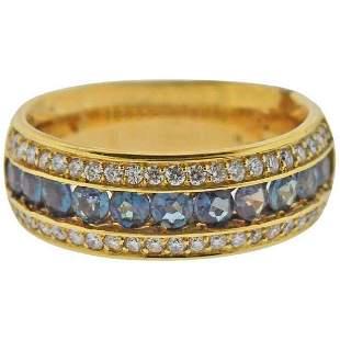 Mark Henry Alexandrite Diamond Gold Band Ring