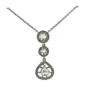 Gregg Ruth Diamond Platinum Pendant Necklace