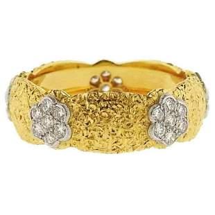Buccellati Eternelle Gold Diamond Wedding Band Ring