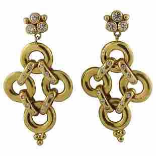 Temple St. Clair Diamond Gold Jeanne d'Arc Link Drop